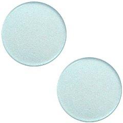 Slider zilver kleur pol haze blue 20mm vlak