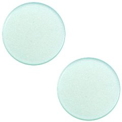 Slider zilver kleur light aqua green vlak 20mm