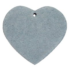 Leren hart kleur dark grey tas