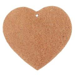 Leren hart kleur cognac brown tas