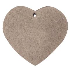 Leren hart tas kleur vintage brown maat 5 cm