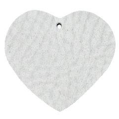 Leren hart kleur light grey tas