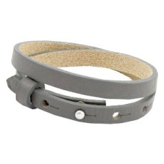 Smalle armband anthracite grey dubbel