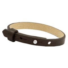 Smalle armband dark sepia brown