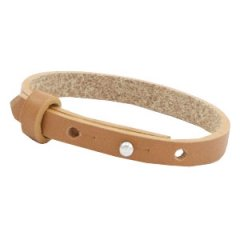 Smalle armband cognac brown