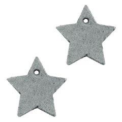 Leren-ster-donkergrijs