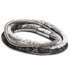 Wikkelarmband kleuren grijs, zwart, wit