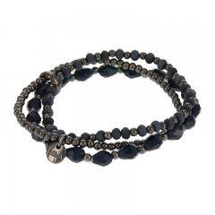 Armbandenset kleur blackmetal blue