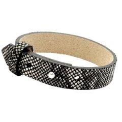 Brede-armband-snake-black