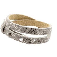 Smalle-armband-snake-grey-dubbel