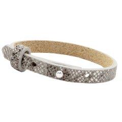 Smalle-armband-snake-grey