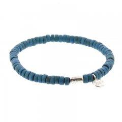 houten armband kleur blauw 6mm