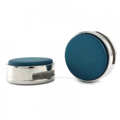 Slider zilver teal blue mat