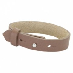 Brede armband brown