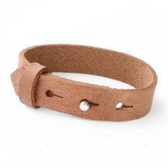 Brede armband auburn brown