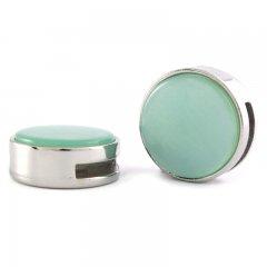 Slider zilver pearl azore green