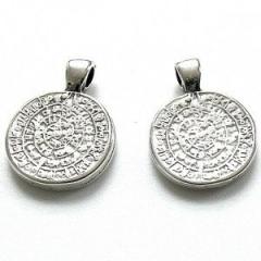 Bedel vorm griekse munt kleur zilver maat 16 bij 21mm