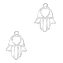 Bedel vorm hamsa hand zilverkleurig rvs