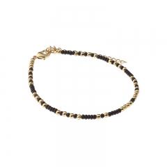 Biba bead armband kleur black gold kralen 2mm