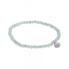 biba facet armband kleur cloud grey 4mm