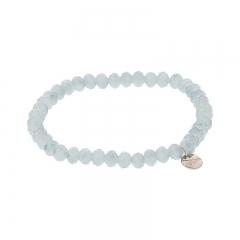 biba facet armband kleur cloud grey 6mm