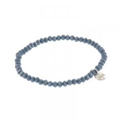 Biba facet armband kleur dark cloud blue kralen 4mm