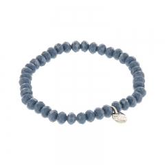 biba facet armband kleur db blue 6mm