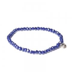 Biba facet armband kleur king blue 4mm