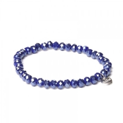 Biba facet armband kleur king blue 6mm