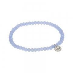 Biba facet armband kleur lightly blue kralen 4mm