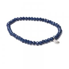 Biba facet armband kleur midnight blue kralen 4mm