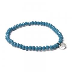 Biba facet armband kleur petrol blue kralen 4mm