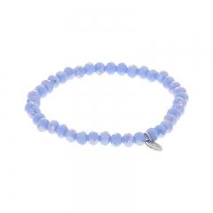 Biba facet armband kleur queen blue 6mm