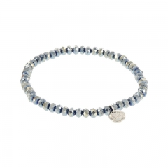 Biba facet armband kleur shiny diamond blue 4mm
