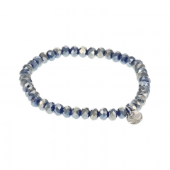 Biba facet armband kleur shiny diamond blue 6mm