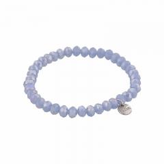 biba facet armband kleur water blue kralen 6mm