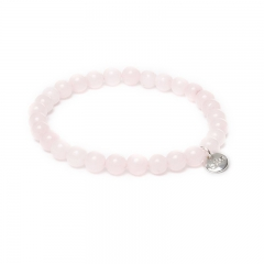 Biba jade armband kleur lightly pink kralen 6mm