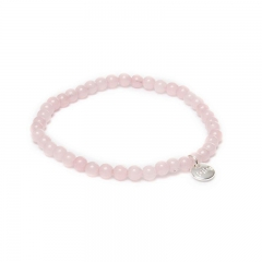 Biba jade armband kleur lightly pink kralen 4mm