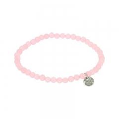 Biba jade armband kleur mid roze kralen 4mm