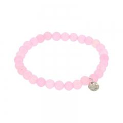 Biba jade armband kleur mid roze kralen 6mm