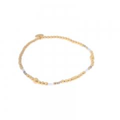 Biba miyu armband kleuren mat goud grijs kralen 2mm
