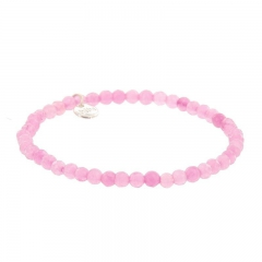 Biba natuurstenen armband kleur dark pink kralen 4mm