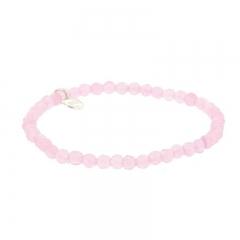 Biba natuurstenen armband kleur sweetly pink kralen 4mm