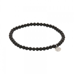 Biba pearl armband kleur black kralen 4mm