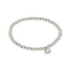 Biba pearl armband kleur cloud grey kralen 4mm