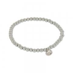 Biba pearl armband kleur concrete grey kralen 4mm