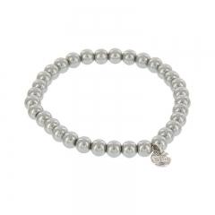 Biba pearl armband kleur concrete grey kralen 6mm