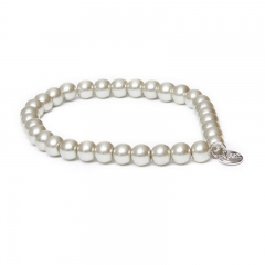 Biba pearl armband kleur light green grey kralen 6mm