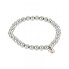 Biba pearl armband kleur metal grey kralen 6mm