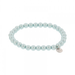 Biba pearl armband kleur sea green kralen 6mm